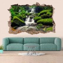 Decorative waterfalls Thailand 3D