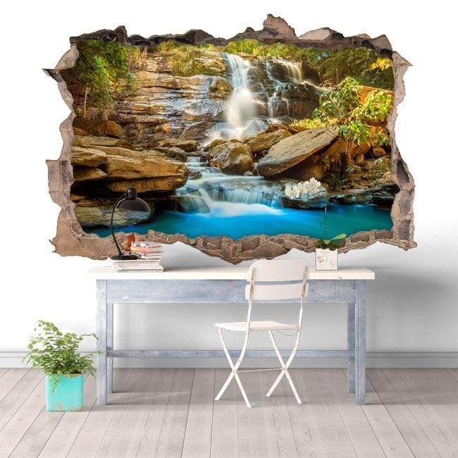 Decorative waterfalls Chiang Mai 3D