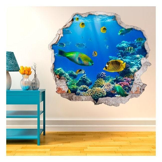 Fish in the Sea 3D decorative vinyl