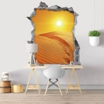 Sunset in the desert 3D decorative vinyl