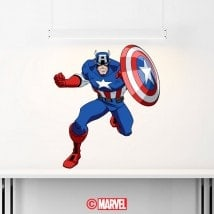 Decorative vinyl Captain America