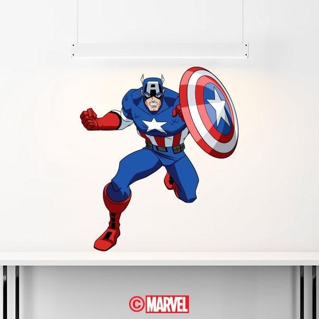 Decorative vinyl Captain America