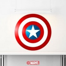 Decorative vinyl shield Captain America