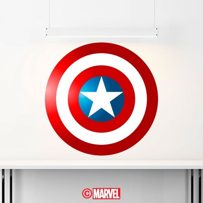 Decorative vinyl shield Captain America