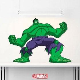 Luminescent panels dividing fluowall Hulk