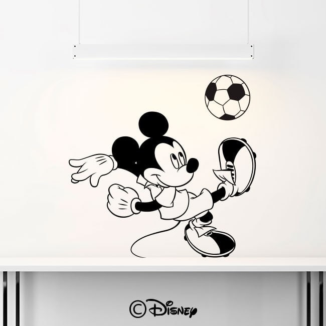 Mickey Mouse luminescent panels dividing Fluowall