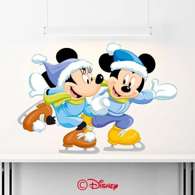 Vinyl Mickey and Minnie skating