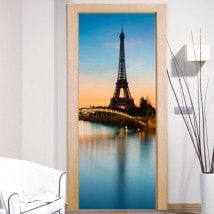 Decorative vinyl door Tower Paris Eiffel