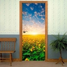 Doors sunflowers for vinyl sunset