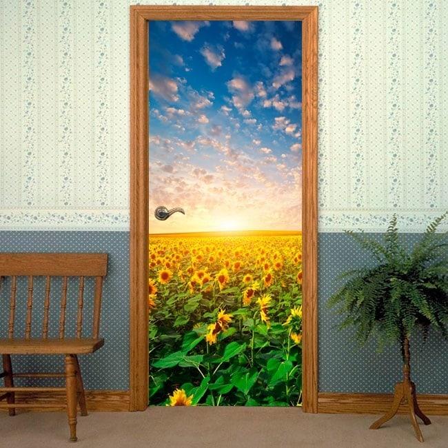 Doors sunflowers for vinyl sunset
