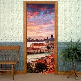 Decorative vinyl doors Venice Canal