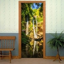 Decorative vinyl doors waterfalls Thailand