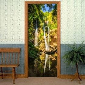 Decorative vinyl doors waterfalls Thailand