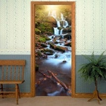 Vinyl doors waterfalls nature