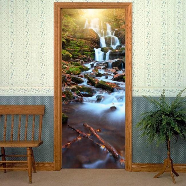 Vinyl doors waterfalls nature