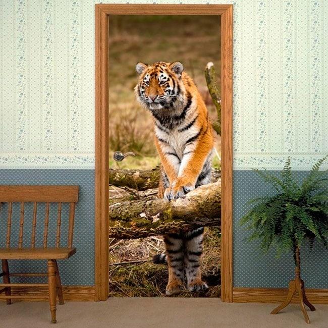 Decorative vinyl doors Siberian Tiger