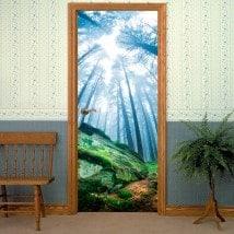 Decorative vinyl doors magical forest