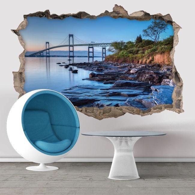Vinyl 3D Newport Bridge