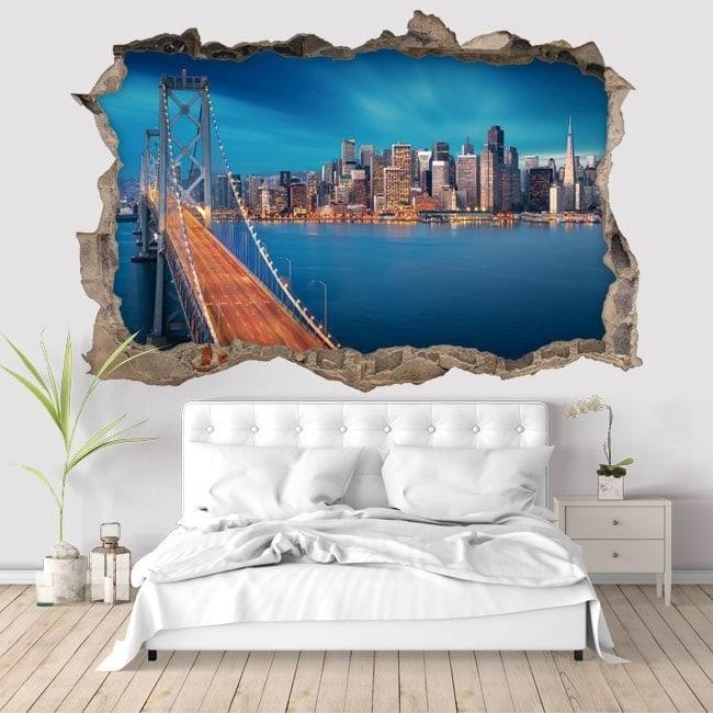 Vinyl 3D bridge San Francisco Bay