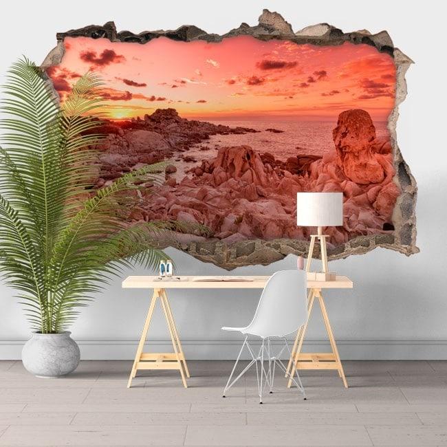 3D vinyl sunset Punta Molentis Sardinia