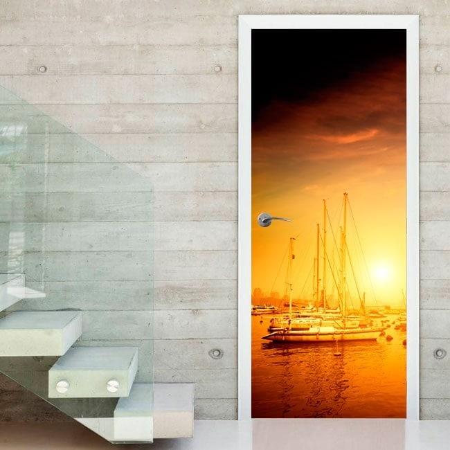 Vinyl doors sunset on the Harbour