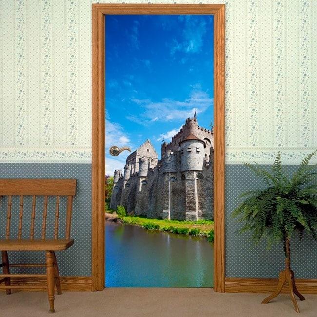 Decorative vinyl doors Castle counts of Ghent