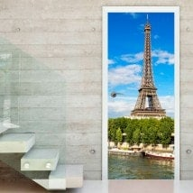 Vinyl doors Tower Eiffel Paris