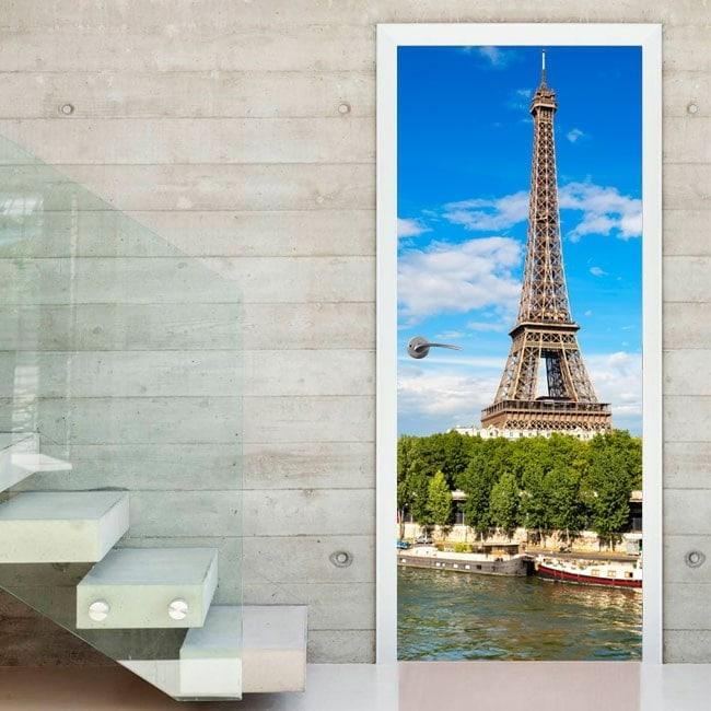 Vinyl doors Tower Eiffel Paris