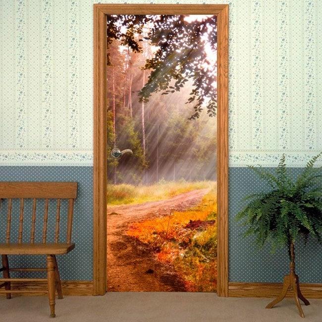 Doors vinyls Sunbeams In Nature
