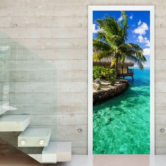Doors Tropical Paradise Wall Decal