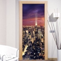 Wall Decals Doors New York Manhattan
