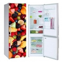 Decorative stickers refrigerators fruit collage