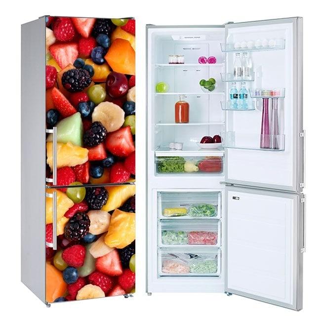Decorative stickers refrigerators fruit collage