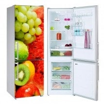 Fruit collage stickers refrigerators