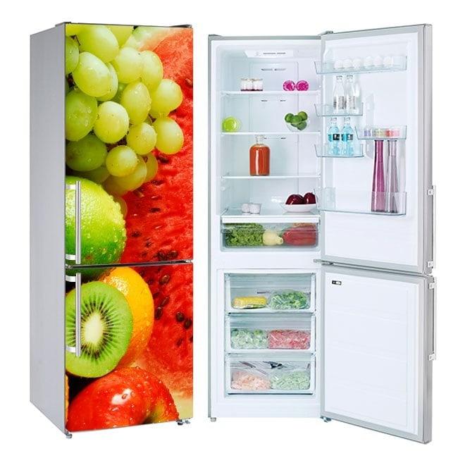 Fruit collage stickers refrigerators