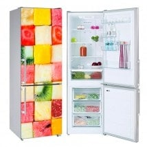 Vinyls for refrigerators fruit cubes