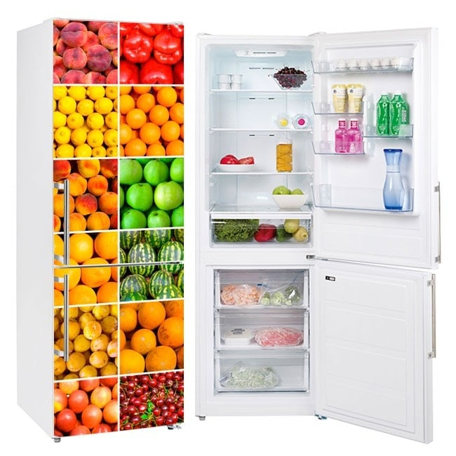 Stickers for refrigerators collage fruit and vegetables