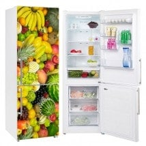 Vinyls for refrigerators and refrigerators fruit collage