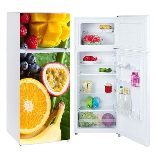 Vinyls fruit for refrigerators and fridges
