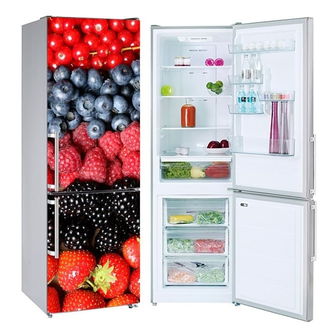 Stickers for refrigerators fruits collage