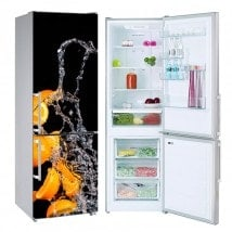 Vinyls for refrigerators splash orange
