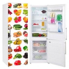 Vinyls for refrigerators vegetable fruits and vegetables