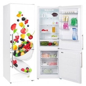 Vinyl for refrigerators bowl with fruit
