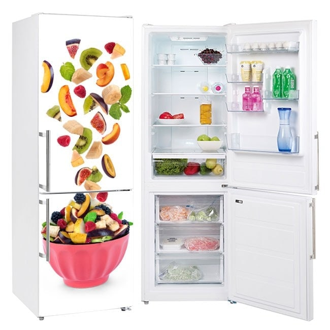 Decorative stickers for refrigerators bowl with fruit