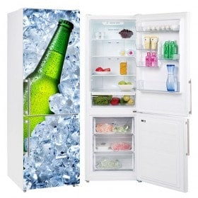 Vinyl and stickers for refrigerators ice beer