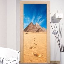 Doors stickers decorative giza pyramids