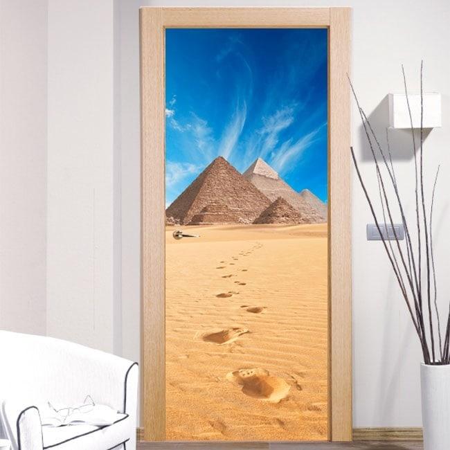 Doors stickers decorative giza pyramids