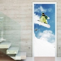 Vinyls for doors snowboard