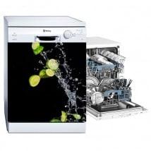 Vinyls lemons splash dishwasher