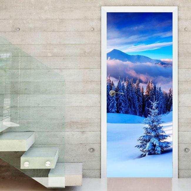 Doors decals snowy mountains